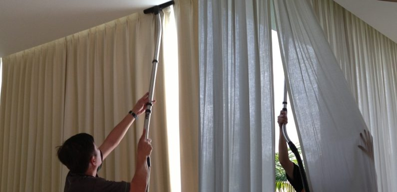 Cleaning the curtains