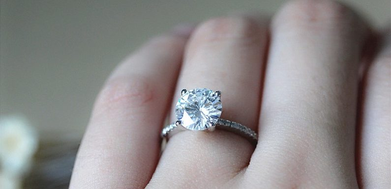 What is the reason for surging popularity of Moissanite rings?
